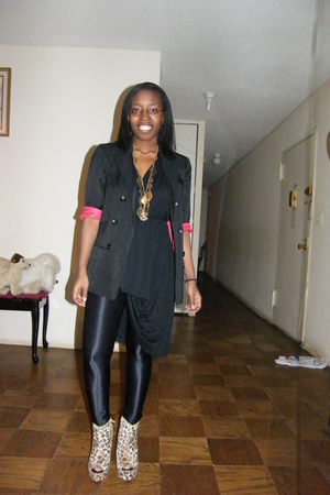 black Topshop blazer - black Unnecessary Clothing dress - black American Apparel