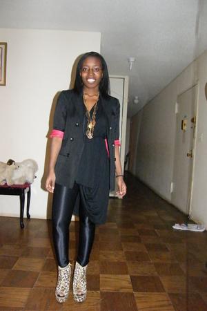 black Topshop blazer - black Unnecessary Clothing dress - black American Apparel