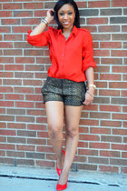 Forever 21 blouse - Express shorts - OASAP pumps