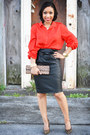 Aldo-purse-forever-21-blouse-aldo-pumps-leather-h-m-skirt-h-m-necklace