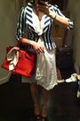 White-calypso-dress-white-forever-21-blazer-red-chrsitian-louboutin-shoes-