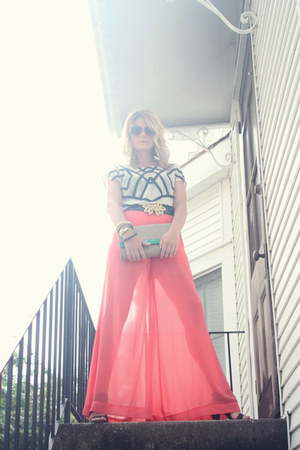 sheer pink haus 131 pants - Vince Camuto shoes - H&amp;M bag