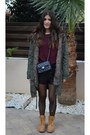 Mustard-timberland-boots-dark-green-parka-coat-topshop-coat-black-chanel-bag