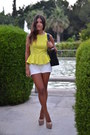 Black-chanel-bag-white-zara-shorts-beige-topshop-pumps