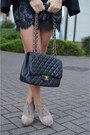 Black-asos-blazer-light-brown-leopard-asos-scarf-black-chanel-bag