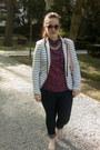 Navy-h-m-jeans-white-striped-stradivarius-blazer-magenta-dotted-h-m-shirt