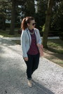 Navy-h-m-jeans-white-striped-stradivarius-blazer-magenta-dotted-h-m-shirt