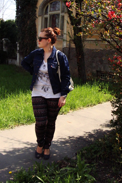 jeans Levis jacket - H&M bag - white Takko top - Deichmann wedges
