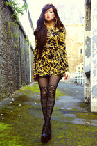 stockings lace Topshop tights - rare london dress - Koi Couture heels
