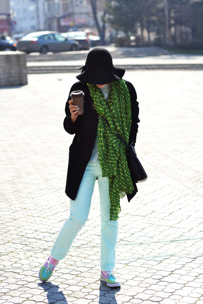 green dots forgotten name scarf - black wool La Redoute coat