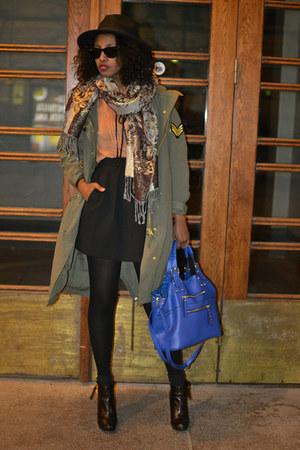 fedora H&M hat - Aldo bag - Forever 21 blouse - Mango skirt
