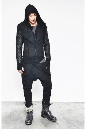 boots - pants - hoodie