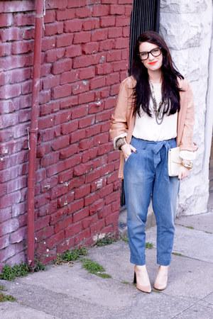 Kasil Workshop jeans - kimono vintage jacket - Zara heels - Erin Fetherston blou