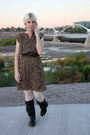 Dark-brown-blowfish-shoes-boots-brown-jcpenney-dress
