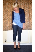 H&M blazer - H&M top - H&M top - Topshop jeans - Office shoes
