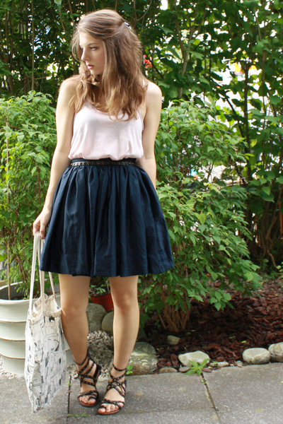 Zara top - H&M belt - H&M Trend skirt - BikBok accessories - from japan shoes