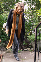 black H&M Trend blazer - gold Zara scarf - black Local shop shoes - silver from