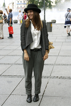 Zara blazer - Zara blouse - Zara pants - from japan - H&M shoes - Uniqlo belt