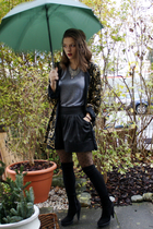 black Zara shoes - gray American Apparel t-shirt - black Mango skirt - silver vi