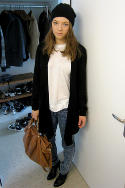 Zara top - H&M hat - Cheap Monday jeans - shop lush purse - H&M shoes