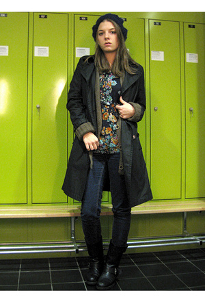 Gap coat - Zara blouse - vagabond shoes - Cheap Monday jeans - Zara top