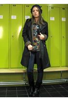 Gap coat - Zara blouse - vagabond shoes - Cheap Monday jeans - Zara top