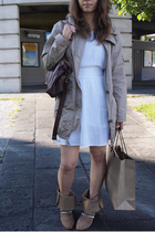 coat - asos dress - Zara boots