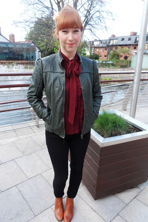 Topshop jeans - Ebay boots - faux leather pull&bear jacket