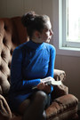 Blue-unknown-dress-blue-soft-cold-water-creek-jumper