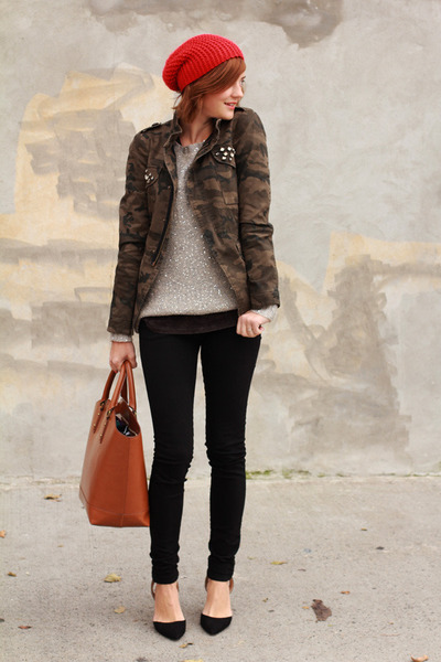 Zara jacket - BB Dakota sweater - Zara bag