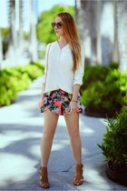 Charlotte Russe boots - Hot Miami Styles shorts - Miu Miu glasses