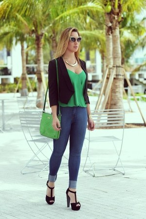 kate spade bag - Celine glasses - Hot Miami Styles blouse