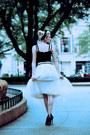 White-tulle-shabby-apple-skirt-black-t-strap-sole-society-heels