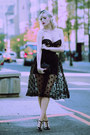 Black-veil-pinup-girl-clothing-hat-black-t-strap-sole-society-pumps