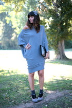 charcoal gray caf noir shoes - heather gray ChiccaStyle dress