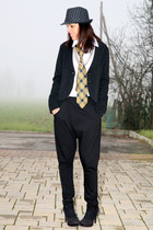 black cotton vintage blazer - white cotton ChiccaStyle shirt - light yellow silk