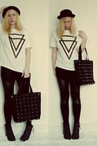 chicnova shirt - blackpuleggings chicnova leggings - chicnova bag