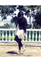 janeo heels - vintage jacket - Prima leggings - vintage top