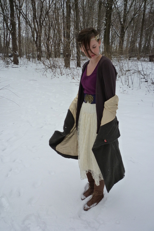 Urban Outfitters boots - Urban Outfitters coat