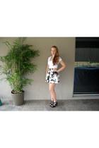 Valley Girl skirt - SUPRÉ shirt - Big W heels - Ebay necklace