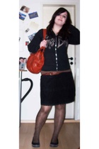 Corpse Bride sweater - H&M - H&M purse - H&M skirt - Accessorize - Accessorize