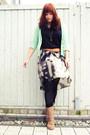 Light-brown-deichmann-boots-gray-promod-skirt-aquamarine-primark-cardigan