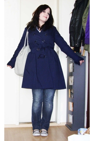 H&amp;M coat - Accessorize purse - H&amp;M sunglasses - New Yorker shoes - H&amp;M blouse - 