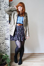 Camel-c-a-jacket-blue-pull-bear-shirt-black-gina-tricot-skirt