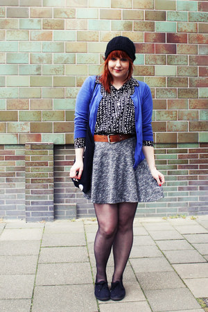 black H&M shirt - black Ebay bag - heather gray Primark skirt