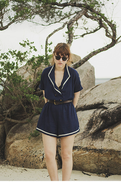 navy sailor Urban Outfitters romper