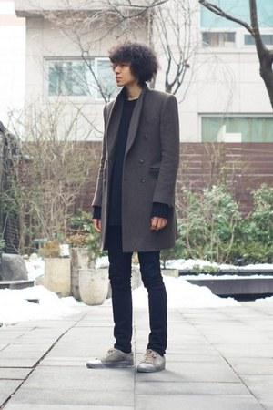 heather gray Vandalist coat - coat