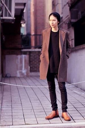 tan vintage coat