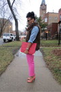 Navy-floral-dash-me-scarf-salmon-zara-shoes