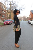 olive green clutch Love Cortnie bag - light brown wedges lulus shoes